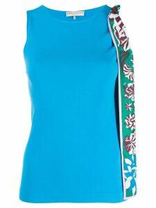 Emilio Pucci bow detail vest top - Blue
