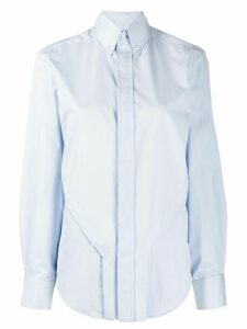 Zilver zip detail shirt - Blue