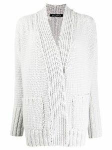Iris Von Arnim textured cardigan - Grey