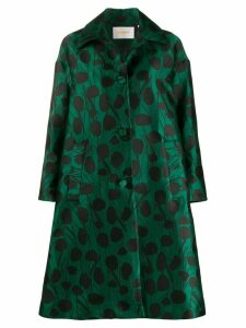 La Doublej x Mantero Moses Verde satin boxy coat - Green