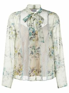 Red Valentino floral print blouse - Blue