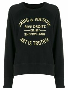 Zadig & Voltaire Art Is Truth embroidered sweatshirt - Black