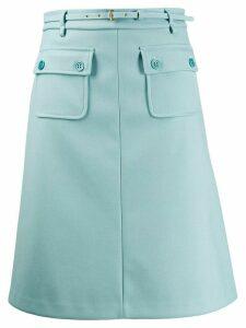 RedValentino pocket detail A-line skirt - Blue