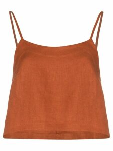 Bondi Born flared cropped slip top - ORANGE