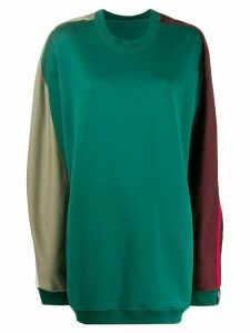 Y/Project oversized block colour jumper - Green