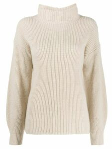 Antonelli ribbed dropped shoulder jumper - NEUTRALS