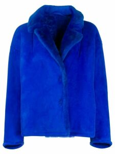 Salvatore Santoro boxy fit button down jacket - Blue