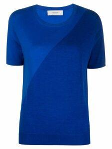 Pringle of Scotland asymmetric T-shirt - Blue
