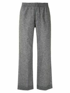 À La Garçonne elasticated waist straight trousers - Grey
