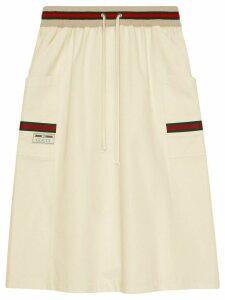 Gucci Web-trimmed skirt - NEUTRALS