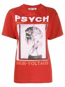 McQ Alexander McQueen graphic print cotton T-shirt - ORANGE