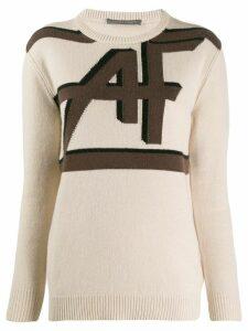 Alberta Ferretti intarsia-knit jumper - A1081 FANTASY PRINT BEIGE