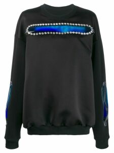 Christopher Kane gel patch sweatshirt - Black