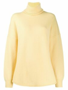 Extreme Cashmere turtle neck jumper - Yellow