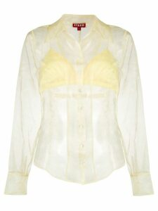 Staud organza button blouse - Yellow