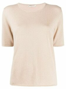 Agnona short-sleeve knit top - NEUTRALS