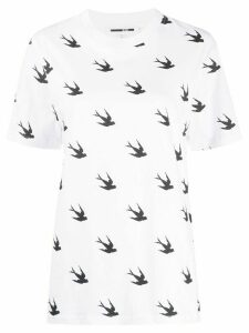 McQ Alexander McQueen swallow print T-shirt - White