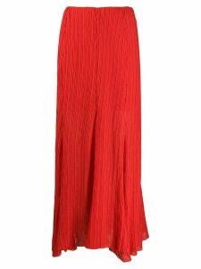 Hope plissé maxi skirt - Red