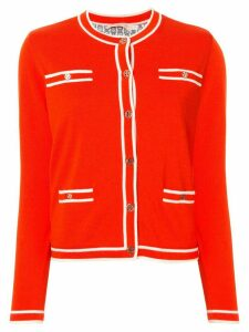 Tory Burch Kendra contrast-trimmed cardigan - Red