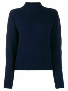 Allude ribbed turtle neck jumper - Blue