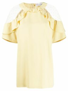 RedValentino sheer detail blouse - Yellow