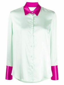 Black Coral satin shirt - Green