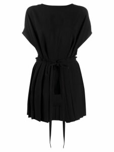 Mm6 Maison Margiela tie-waist pleated top - Black