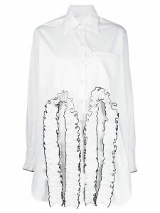Christopher Kane frill cut out shirt - White