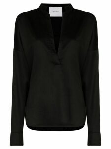 Bondi Born V-neck long sleeve blouse - Black