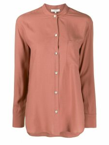 Vince mandarin-collar shirt - PINK