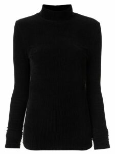 Muller Of Yoshiokubo corduroy roll neck jumper - Black