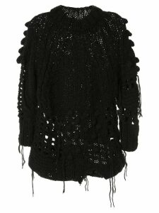 Mm6 Maison Margiela bobble open knit jumper - Black