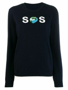 Stella McCartney SOS embroidered jumper - Blue