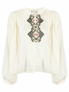 Forte Forte My Shirt embroidered blouse - NEUTRALS