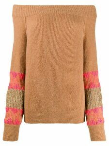 ALESSIA SANTI off-the-shoulder jumper - NEUTRALS