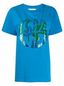 Alberta Ferretti Love Me embellished T-shirt - Blue