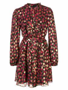 Saloni Tilly ruffle dress - Black