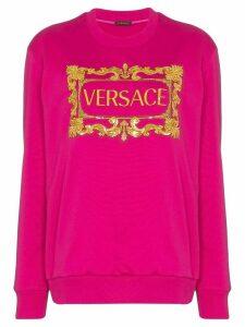 Versace logo-print sweatshirt - PINK
