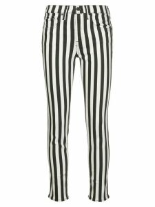 Nili Lotan striped high-rise skinny jeans - White