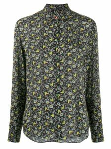 PS Paul Smith woven floral blouse - Black