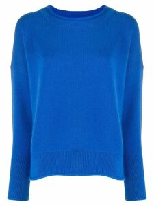 Iris Von Arnim crew neck jumper - Blue