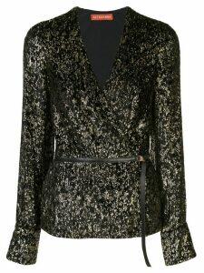 Altuzarra leopard print wrap blouse - Black