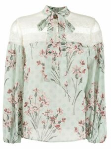 RedValentino floral pattern blouse - Green