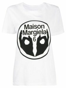 Mm6 Maison Margiela logo print T-shirt - White