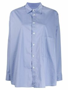 Hope oversized plain shirt - Blue
