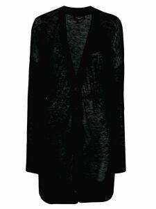 Rag & Bone glittery long-length cardi-coat - Black