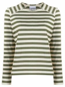 GANNI striped T-shirt - NEUTRALS