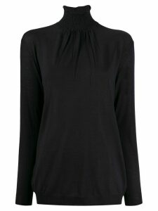 Prada ruched turtle neck jumper - Blue