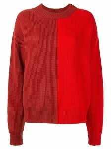 Vaara Eliza colour-block relaxed-fit jumper - Red