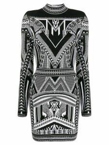 Balmain open back knitted dress - Black